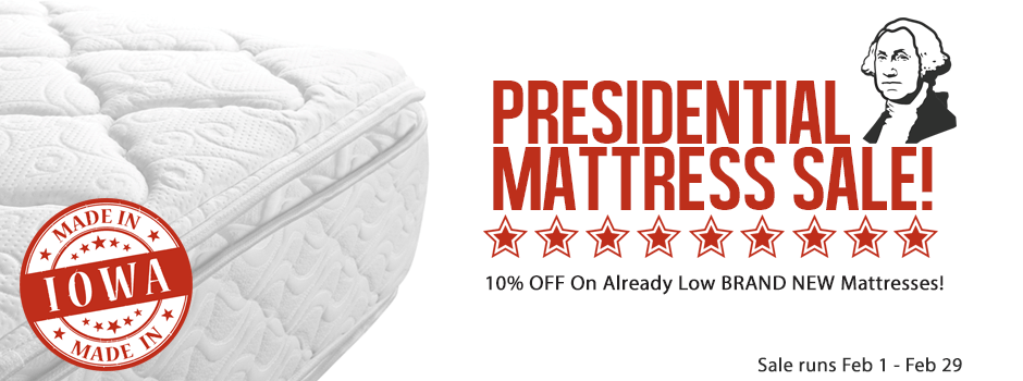 Presidential mattress sale stuff etc for Best time for mattress sales